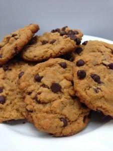 cookies de abóbora com pepitas de chocolate