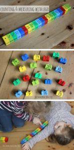 contando até 10 com legos desenhados
