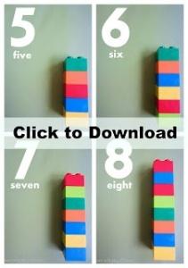 contando até 10 com legos empilháveis