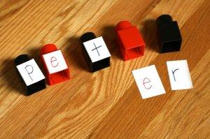 nome- montando o nome com legos