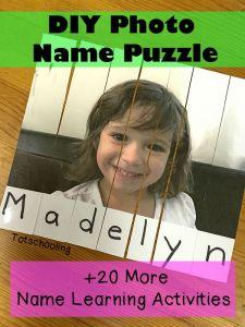 nome- quebra-cabeça de foto e nome