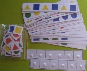 sequência com figuras geométricas