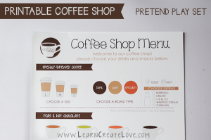 menu coffee shop