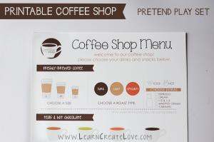 menu coffee shop