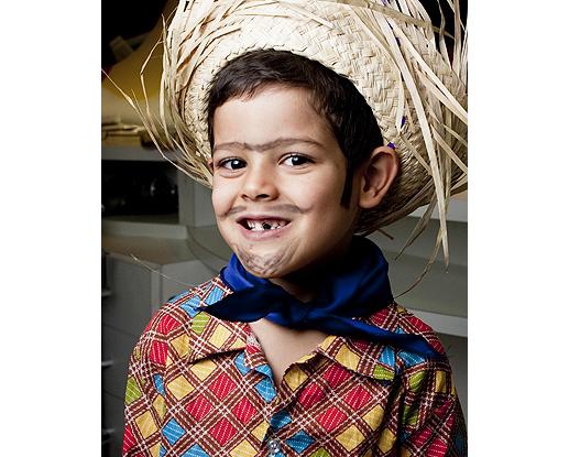 maquiagem caipira menino