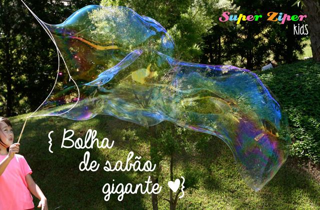 bolha sabão gigante
