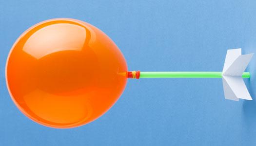 foguete de balão